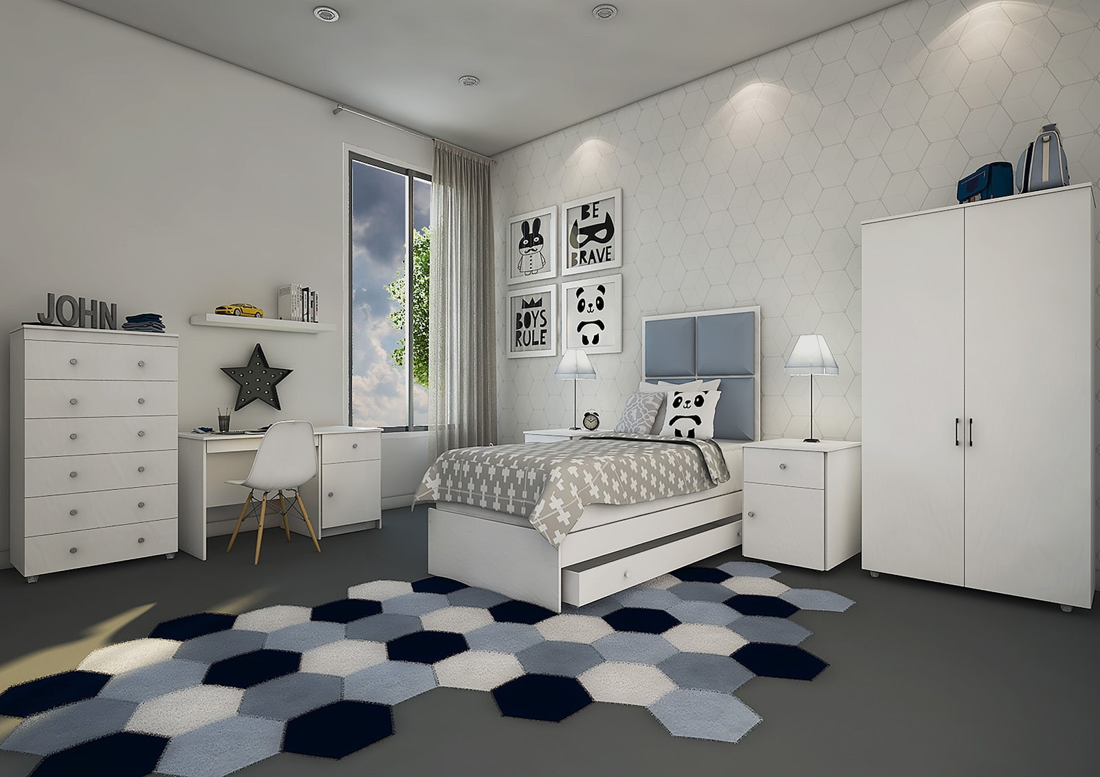 Bedroom In A Box >> Bedroom in a Box - White - Furniture Express